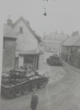 Photograph of tanks in Southam, c.1949 | Warwickshire County Record Office, PH 127/21