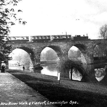 Leamington Spa.  Victoria Park, railway viaduct