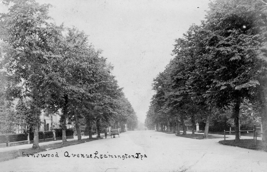 Binswood  Avenue, Leamington Spa.   A horse and cart can be seen.  1900s |  IMAGE LOCATION: (Warwickshire County Record Office)