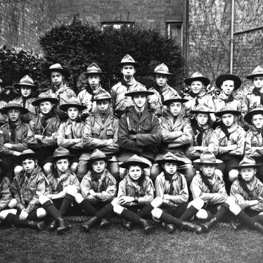Leamington Spa.  Boy scout troop