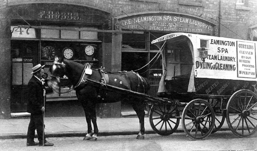 Corporation Cart Horse Parade showing second prize-winner, Leamington Spa Steam Laundry.  May 5th 1906 |  IMAGE LOCATION: (Warwickshire County Record Office)