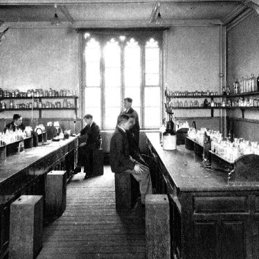 Leamington Spa.  College chemistry laboratory