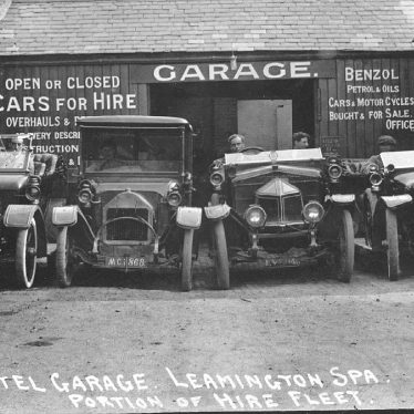 Leamington Spa.  Crown Hotel Garage