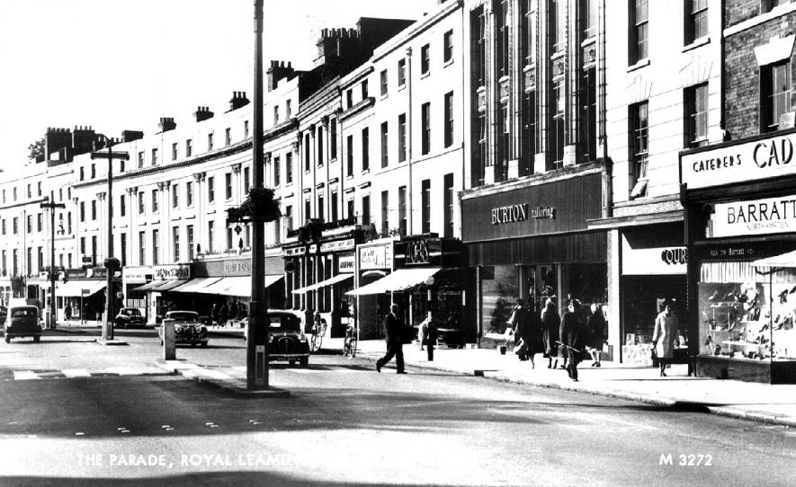 View of the lower end of The Parade.  1960s |  IMAGE LOCATION: (Warwickshire County Record Office)