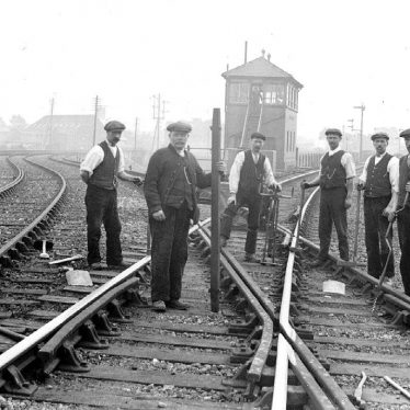 Leamington Spa.  Railway workers