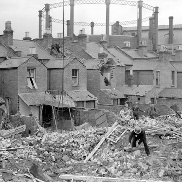 Leamington Spa.  Ranelagh Terrace, bomb damage