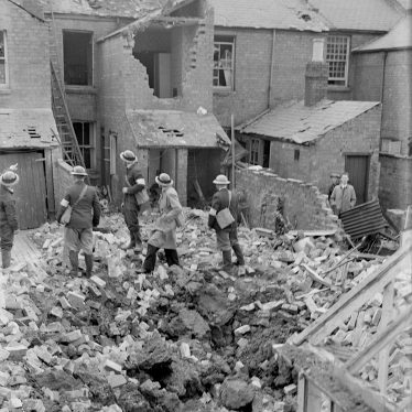 Leamington Spa.  Ranelagh Terrace, bomb damage