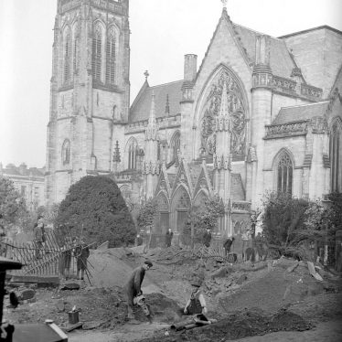 Leamington Spa.  All Saint's Church, bomb damage
