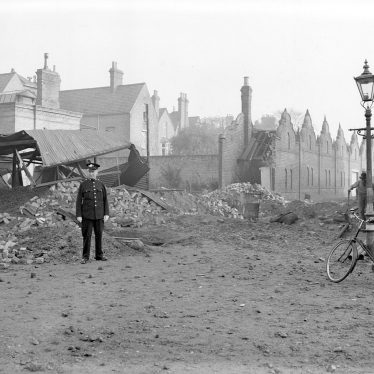 Leamington Spa.  Brandon Parade, bomb damage