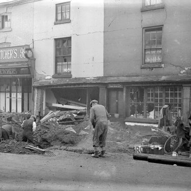 Leamington Spa. Regent Street, bomb damage