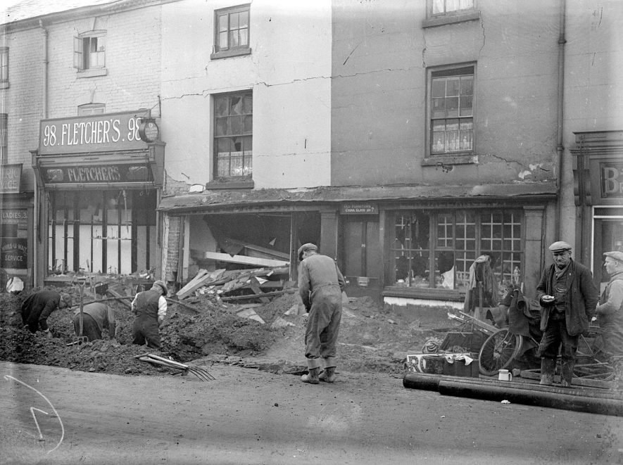 Bomb Damage in Regent Street, Leamington Spa.  1940 |  IMAGE LOCATION: (Warwickshire County Record Office)