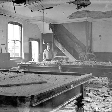 Leamington Spa.  Bomb damage