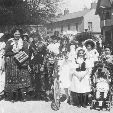 Southam. Market Hill.  May Day