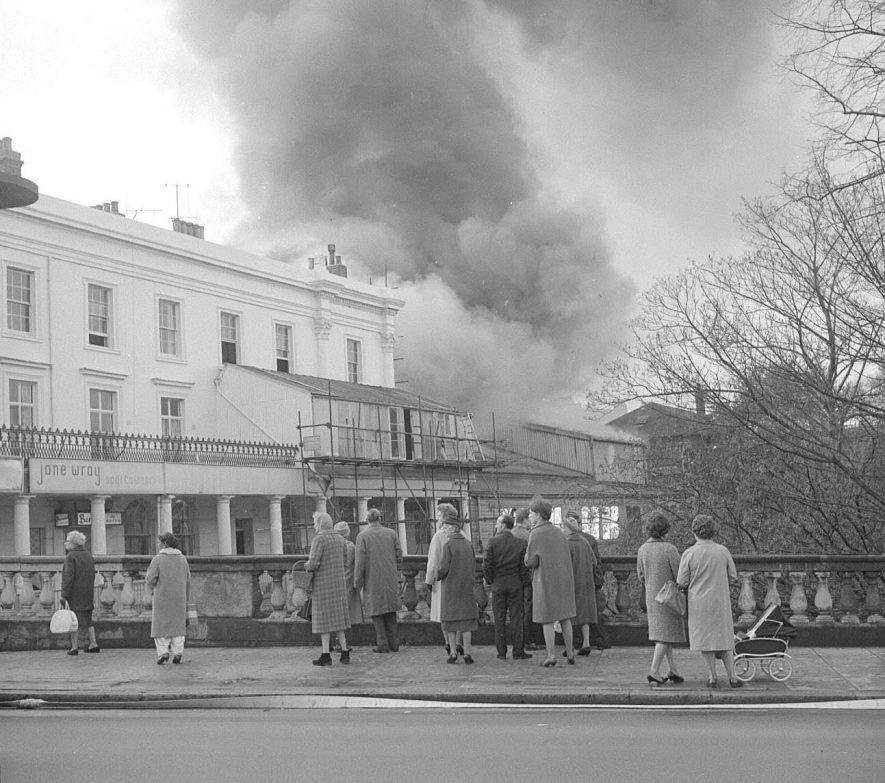 Loft Theatre Fire, Leamington Spa.  1964 |  IMAGE LOCATION: (Warwickshire County Record Office)
