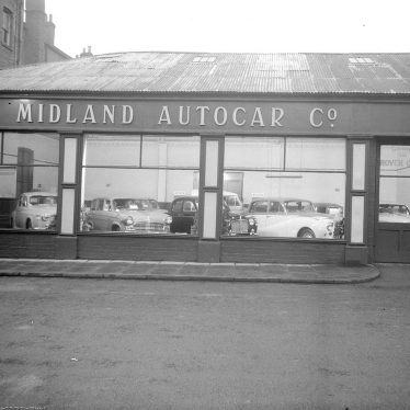 Leamington Spa.  Russell Street, Midland Autocar Showroom