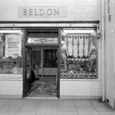 Leamington Spa.  Beldon's Butchers Shop