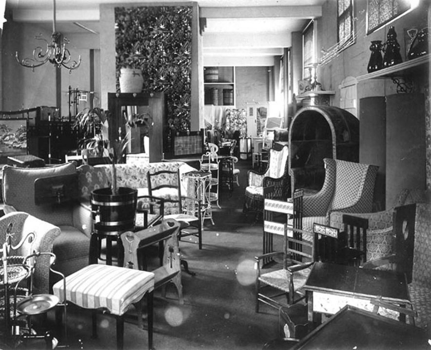 Furniture department of E. Francis & Sons department store in Bath Street, Leamington Spa.  1920s |  IMAGE LOCATION: (Warwickshire Museums. Photographic Collections.)