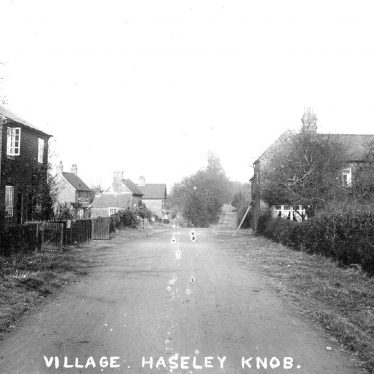 Haseley Knob.  Village street and cottages