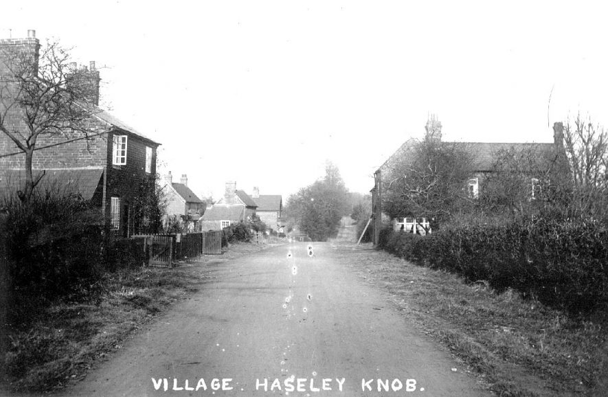 Village street and cottages in Haseley Knob.  1920s |  IMAGE LOCATION: (Warwickshire County Record Office)