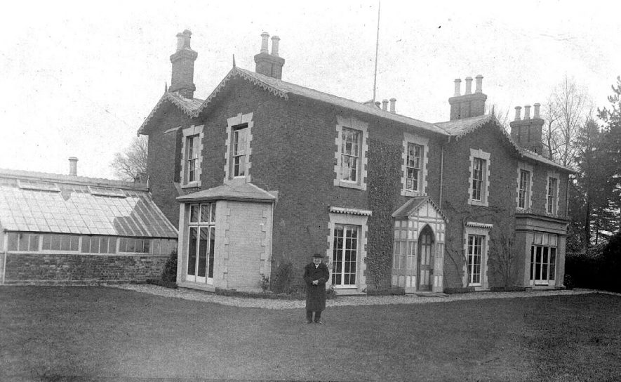 Then vicarage at Haseley.  1900s |  IMAGE LOCATION: (Warwickshire County Record Office)
