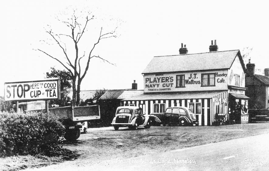 The Five Ways Cafe at Haseley.  1900s |  IMAGE LOCATION: (Warwickshire County Record Office)