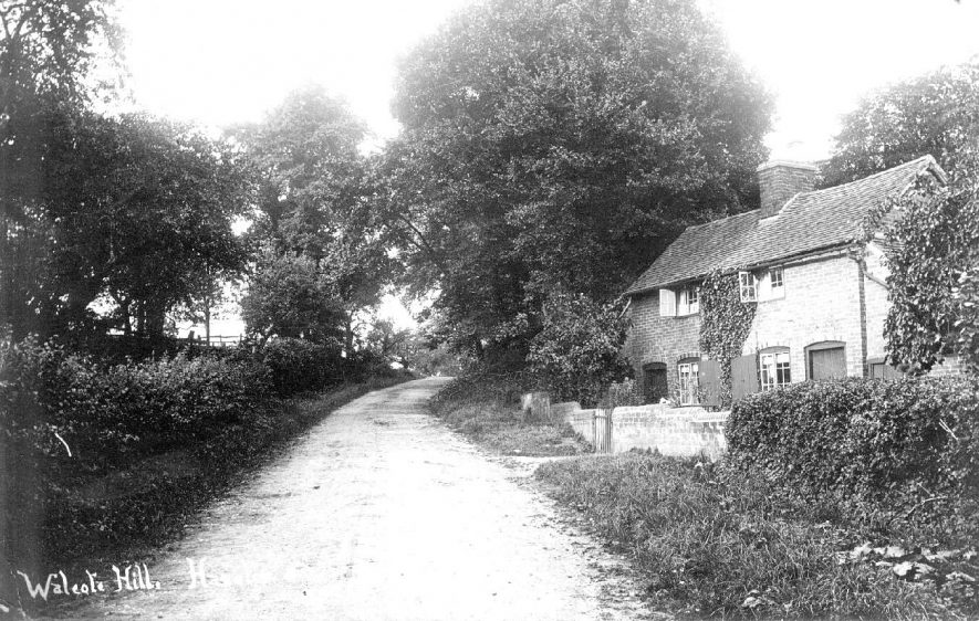 Walcote Hill, Haselor.  1900s |  IMAGE LOCATION: (Warwickshire County Record Office)