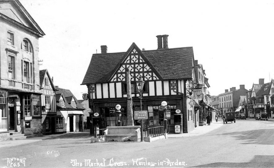 The market cross, Henley in Arden.  1920s [I have this postcard in my possession, I have dated it between 1933 and 1937] |  IMAGE LOCATION: (Warwickshire County Record Office)