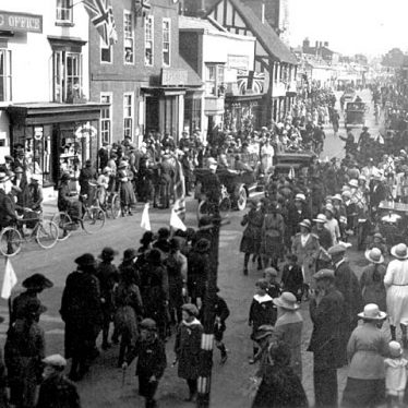 Henley in Arden.  Prince of Wales visit