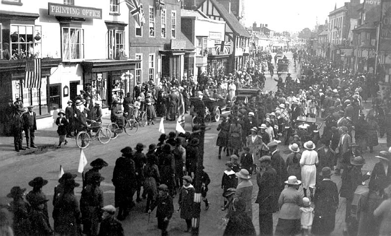 Visit of Prince of Wales, Henley in Arden.  June 1923. |  IMAGE LOCATION: (Warwickshire County Record Office)