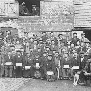 Southam.  Quarry workers strike