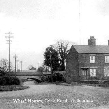 Hillmorton.  Crick Road, wharf houses