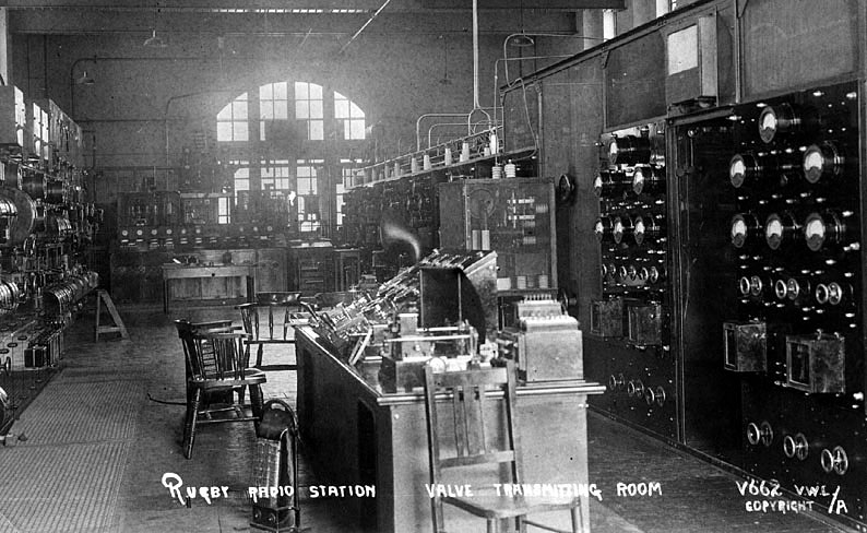 Interior view of the Rugby Radio Station.  1920s |  IMAGE LOCATION: (Warwickshire County Record Office)