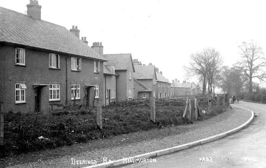 Council houses in Deerings Road, Hillmorton.  1920s |  IMAGE LOCATION: (Warwickshire County Record Office)