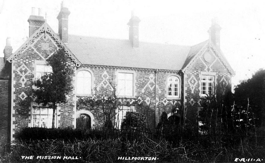 Exterior view of The Mission Hall, Hillmorton.  1910s |  IMAGE LOCATION: (Warwickshire County Record Office)