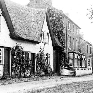 Hillmorton.  Thatched cottages