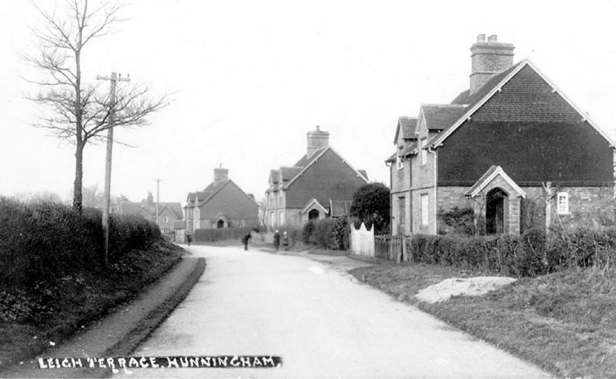 Leigh Terrace, semi-detached houses, Hunningham.  1930s |  IMAGE LOCATION: (Warwickshire County Record Office)