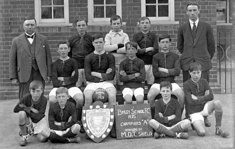 Binley School Football team, Champions 'A', winners of the M.D.T. Shield.  1925 |  IMAGE LOCATION: (Warwickshire County Record Office)