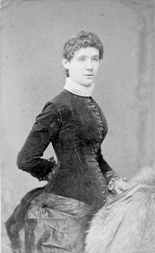 Portrait of Lizzie McCutchion in her 17th year, Warwick. 1890s |  IMAGE LOCATION: (Warwickshire County Record Office)