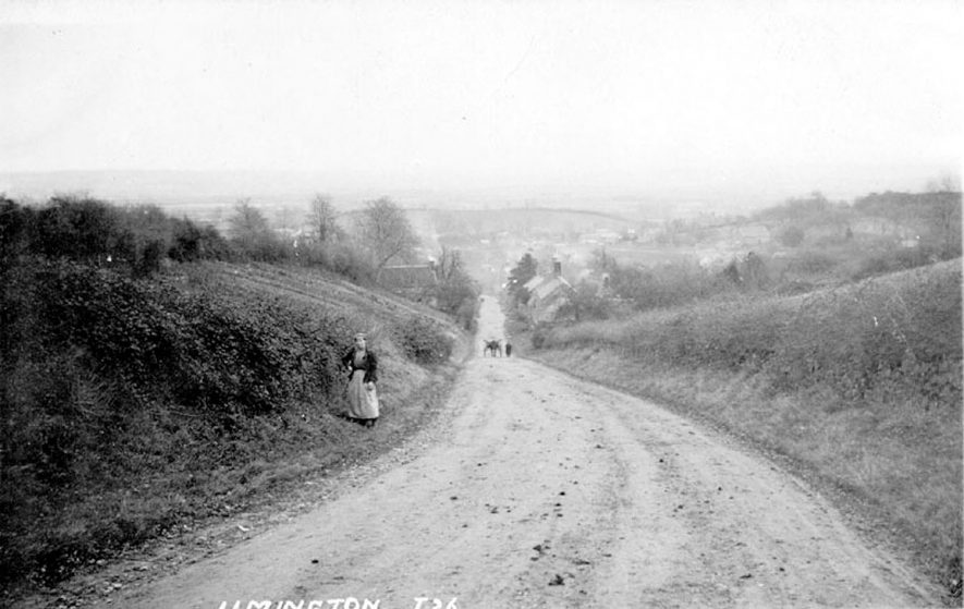 A country lane, Ilmington.  1900s |  IMAGE LOCATION: (Warwickshire County Record Office)