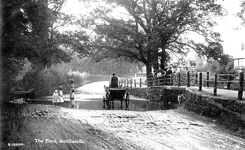 The ford at Kenilworth.  1900s |  IMAGE LOCATION: (Warwickshire County Record Office)