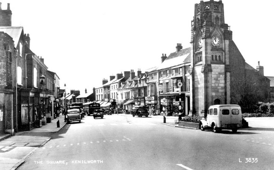 View of The Square, Kenilworth.  1950s
