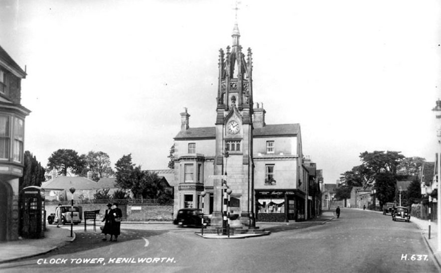 The Clock Tower, Kenilworth.  1930s |  IMAGE LOCATION: (Warwickshire County Record Office)