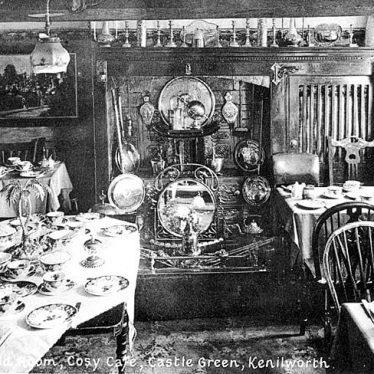 Kenilworth.  Castle Green, interior of Cosy Café