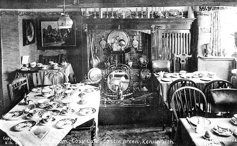 Interior of Cosy Cafe, Castle Green, Kenilworth.  1910s |  IMAGE LOCATION: (Warwickshire County Record Office)