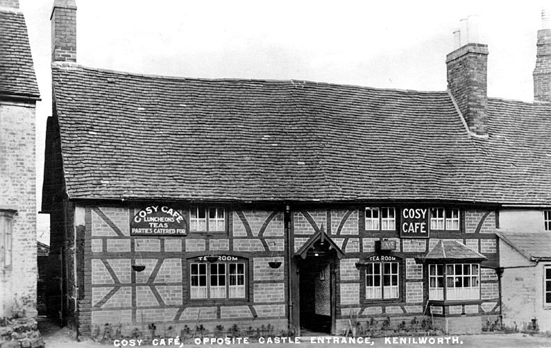 The Cosy Cafe, Castle Green, Kenilworth.  1930s |  IMAGE LOCATION: (Warwickshire County Record Office)