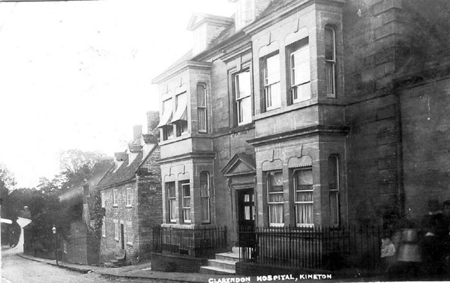 Clarendon Hospital, Bridge Street, Kineton.  1920s |  IMAGE LOCATION: (Warwickshire County Record Office)