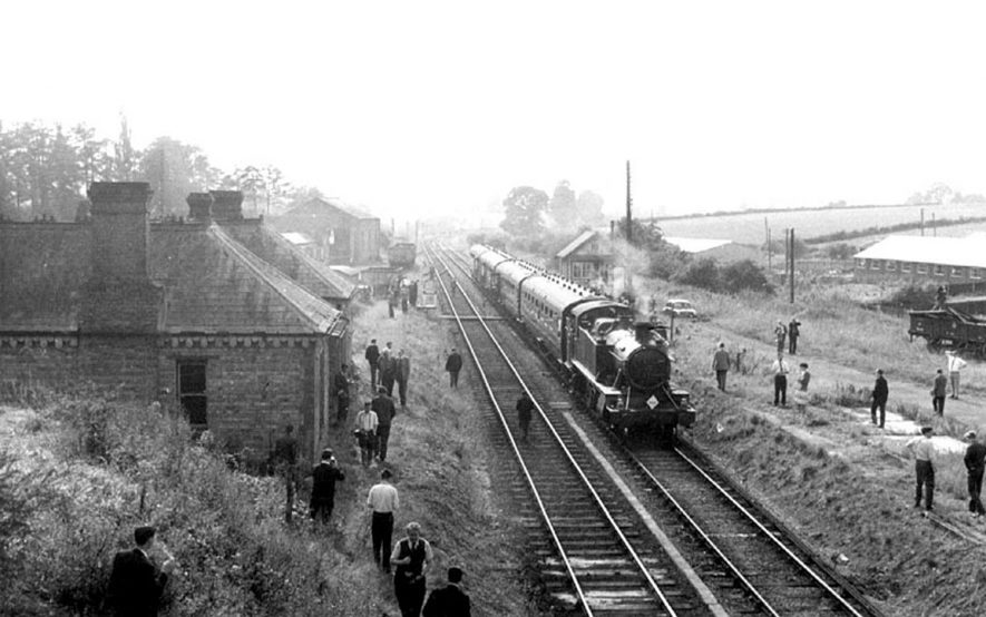 Passenger train on the line somewhere near Kineton.  1960s |  IMAGE LOCATION: (Warwickshire County Record Office)