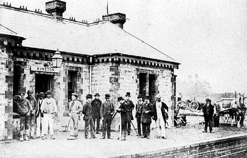 Kineton station on the occasion of the opening in 1871.  Demolished c.1980 |  IMAGE LOCATION: (Warwickshire County Record Office)