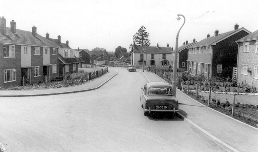 View of council housing estate.  1960s |  IMAGE LOCATION: (Warwickshire County Record Office)