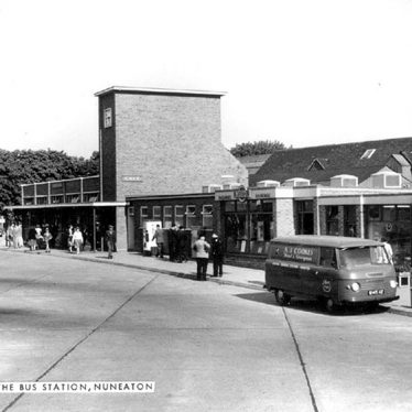 Nuneaton.  Harefield Road, bus station